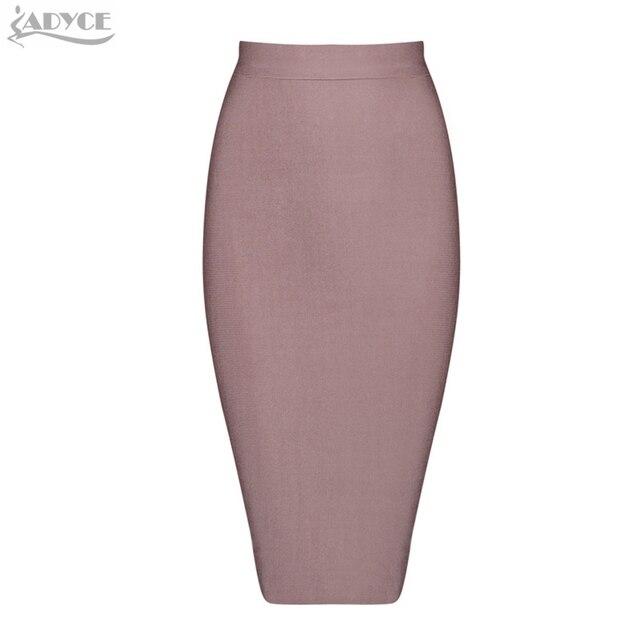 2017 new women sexy skirts knee-length bandage skirt  khaki  blue red white black unde  celebrity bodycon skirt wholesale