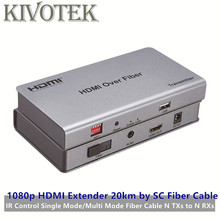 Hdmi 익스텐더 트랜시버 20km 어댑터, sc 파이버 케이블, ir, 신호 모드 파이버/멀티 모드 파이버, n txs to n rxs 무료 배송