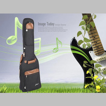 Wholesale Top quality portable durable electric bass guitar bag waterproof shockproof padded backpack soft gig case cover strap