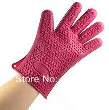 Новые приходят новые номера — анти-скользят тепло-типа силиконовая перчатка горшок держатель 4 выпечки кулинария