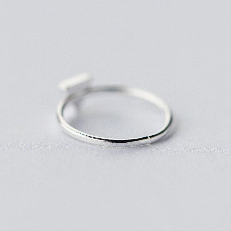 Anillos de triángulo de geometría de plata esterlina 925 simples - Bisutería - foto 4