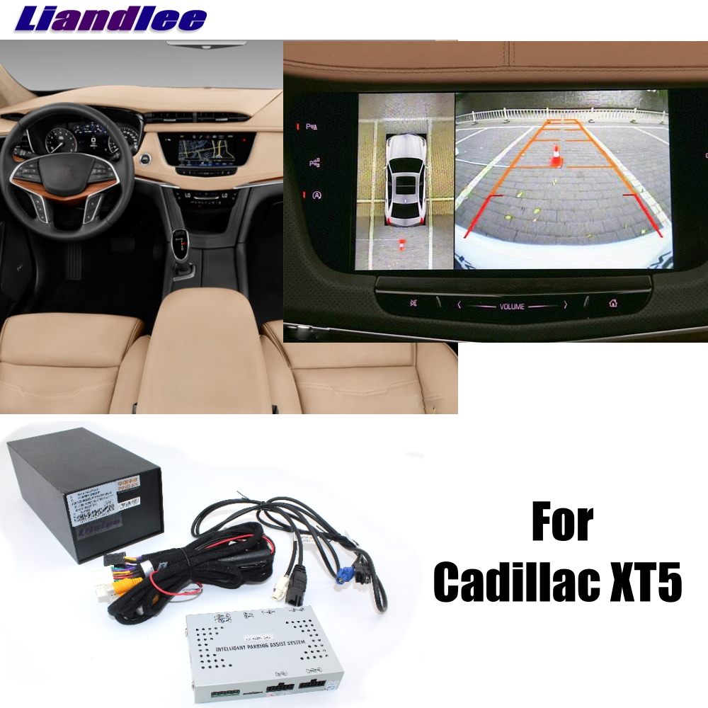 Liandlee Car Parking Camera Interface Reverse Back Up Camera Kits For Cadillac XT5 Display Upgrade