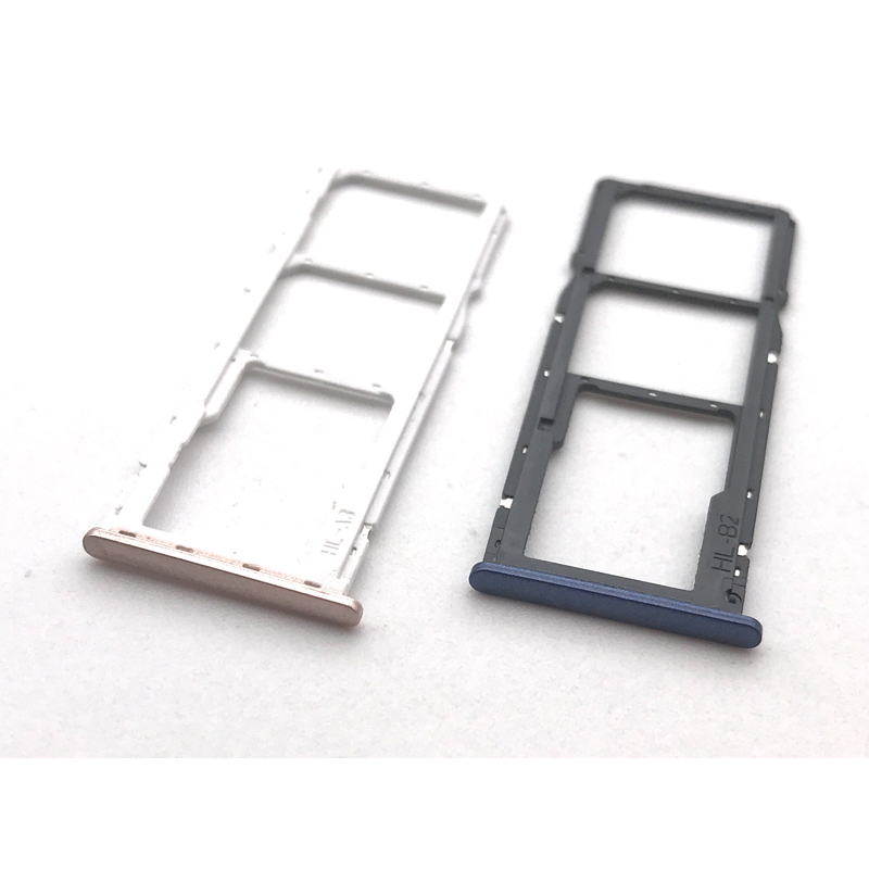 10 Pcs/Lot New For Huawei Honor 7c SIM Card Slot SD Card Tray Holder Adapter Replacement Parts ...