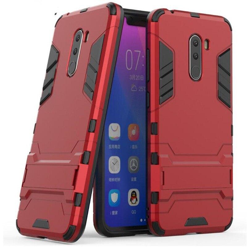 2in1 Roboter Rüstung Zurück Abdeckung für Xiaomi Pocophone F1 Fall Globale POCO F1 Abdeckung Antik-Knock Harte PC für xiaomi Pocophone F1 Fällen