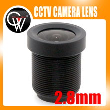 10PCS/LOT  2.8mm  lens 115 Degrees M12 Board Lens For CCTV Security Camera Free Shipping