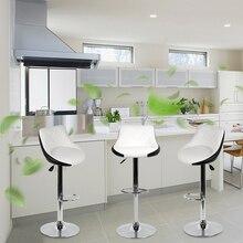 2pcs Comfortable Swivel Bar Chairs Lift Adjustable Bar Stool