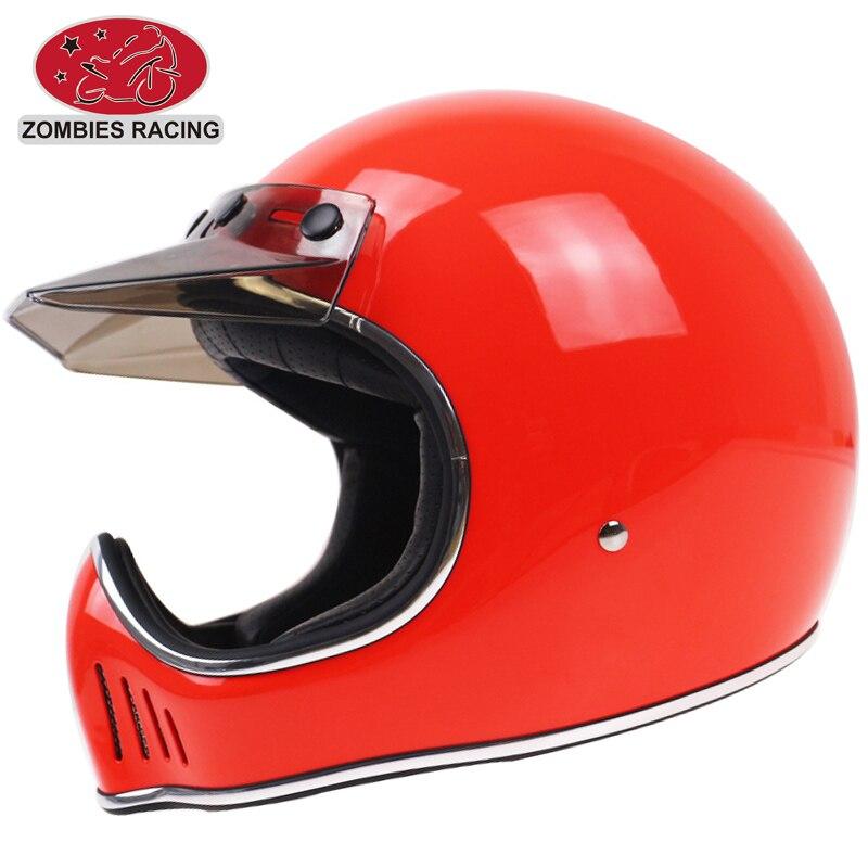 MOTO III style retro motorcycle helmet Fiber glass Shell <font><b>light</b></font> weight Motorbike Helmet Vintage bike helmet DOT approved