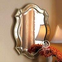 Бесплатная доставка под старину готовой стены стекло косметическое зеркало на стене декоративные зеркальные art трюмо M F2097