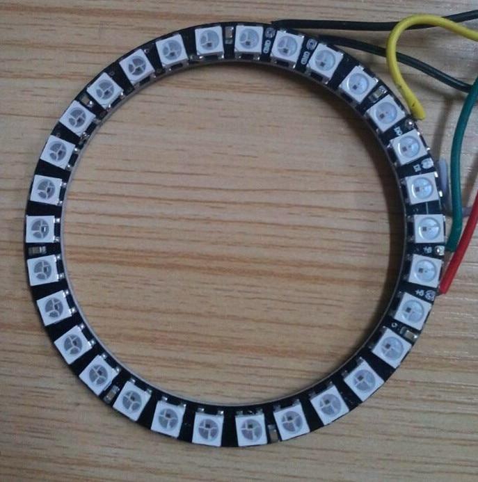 30leds WS2812B RGB addressable ring;DC5V input;RGB full color;round LED pixel