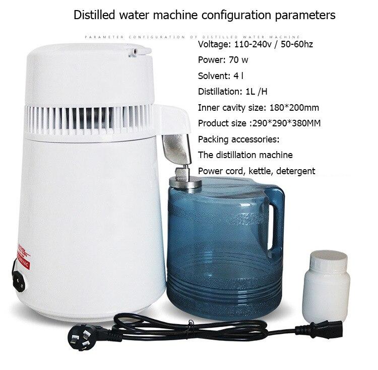 Usine d'acier inoxydable d'équipement d'épurateur de Distillation dentaire de Machine distillée par eau de filtre de distillateur d'eau Pure de 4L - 6