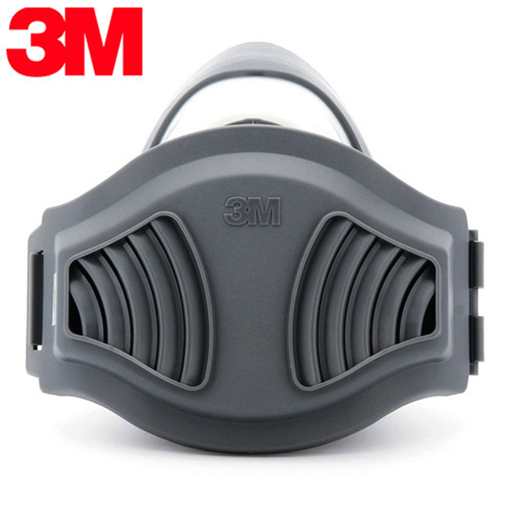 3M 1211 KN90 Particle Mask Respirator Anti Dust PM2.5 Fog Hzae Reusable Half Face Mask with 3M 1701CN Filters Suit 11 in 1 suit 3m 6200 half face mask with 2091 industry paint spray work respirator mask anti dust respirator fliters