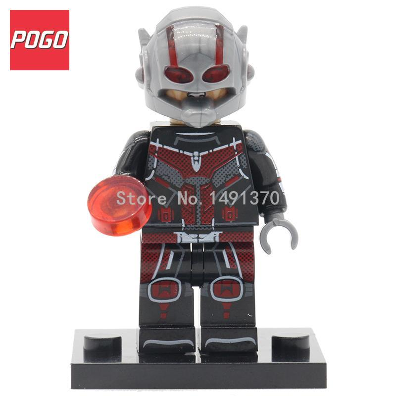 POGO Antman XINH 287 Marvel Super Heroes Figure Single Sale SuperHero Avengers Ant-man Ant Man Building Blocks Sets Toys фигурка ant man ant man yellow jacket pop marvel