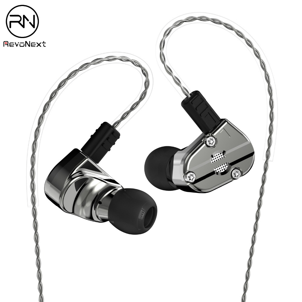 RevoNext QT5 1DD 1BA Heavy metal housing Earphone with superior hifi sound quality