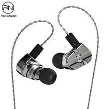 RevoNext QT5 1DD + 1BA тяжелый металлический корпус наушники с превосходным hifi Качество звука