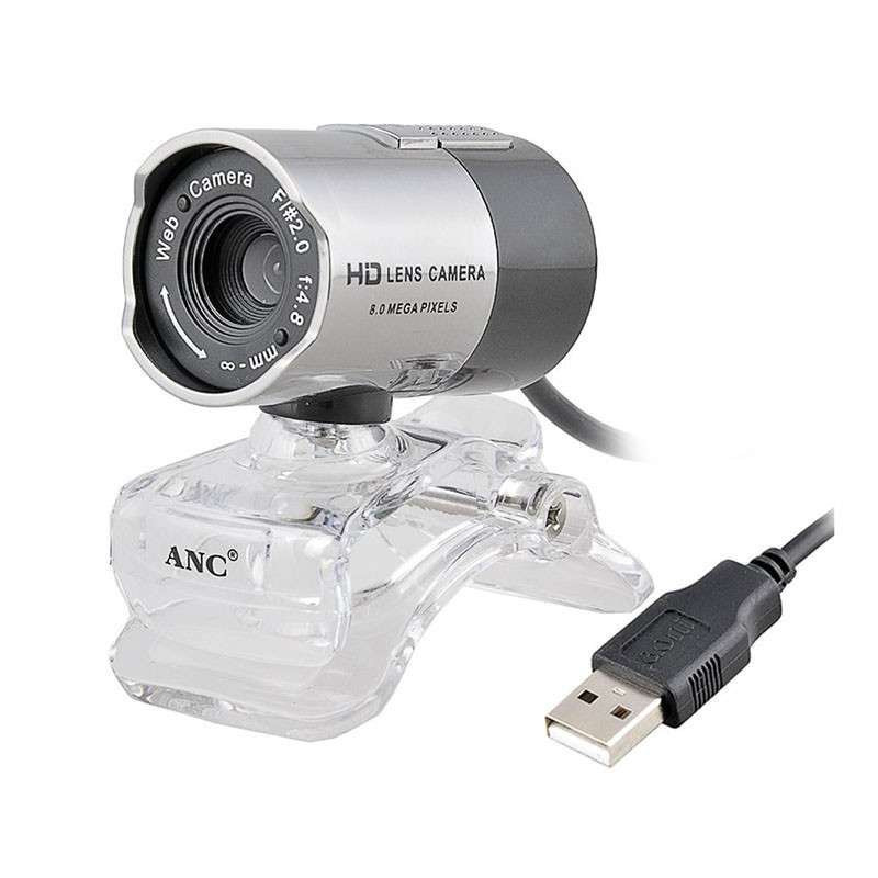 Night Vision 1080P USB Webcam with Adjustable clip and Built-in Microphone
