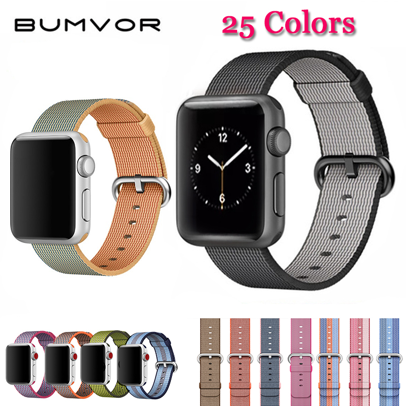 2018 For Apple Watch Series 4/3/2/1 Woven Nylon band fabric-like strap for iWatch colorful pattern classic buckle 44/40 &38/42MM mu sen woven nylon band strap for apple watch band 42mm 38 mm sport fabric nylon bracelet watchband for iwatch 3 2 1 black