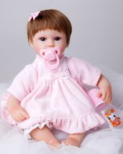 New 40cm Soft Body Silicone Reborn Baby Doll Toy For Girls Vinyl Newborn Girl Babies Dolls Kids Christmas Gift Girl Brinquedos(China)