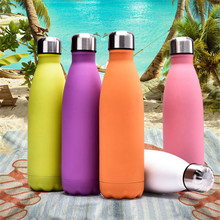 Candy Colors Water Bottle 500ml Insulated Vacuum Stainless Steel Thermos Flask Cup Sport Coffee