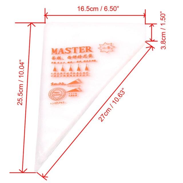 100Pcs/50pcs/30pcs Pack S Size Disposable Piping Bag Icing Fondant Cake Cream Decorating Pastry Tip Tool
