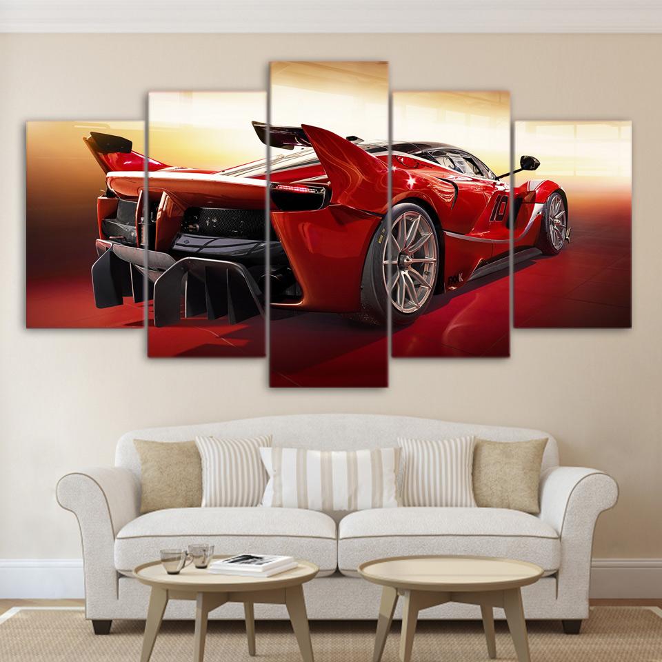 moderna en el arte de la pared cuadros para la sala de casa modular decoracin panel deporte fresco coche rojo pintura abstrac