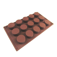 Round Cake Soap Silicone Molds Fondant DIY Cupcake Tools Candle Pudding Stencil Kitchen Bakeware Accessories Supplies