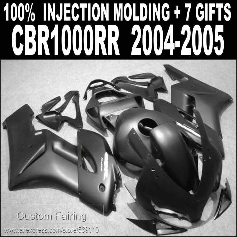 Injection bodywork fairing kit for CBR1000RR 2004 2005 matte black fairings set CBR1000RR 04 05 HB53 motorcycle fairings set for honda cbr1000 rr 04 05 cbr1000rr 2004 2005 cbr 1000rr 04 05 red black fairing kit 7gifts