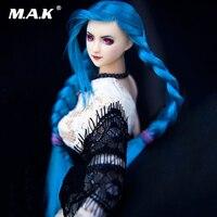Коллекционная голова Ob27 Sculpt 1/6 Scale Женская фигурка аксессуар синие волосы двойная оплётка Ver. Модель головы для бледного тела куклы