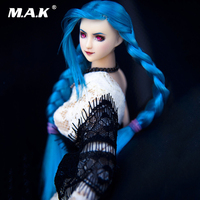 Коллекционные Ob27 Глава Sculpt 1/6 масштаба женской фигуры аксессуар синие волосы двойная оплетка Ver. Глава Резьба модель для бледно тело куклы