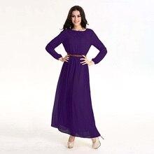 Ретро Джилбаба Мусульманин Платье Абая Dubai Islamic Одежда Женщин Djellaba Robe Femme Арабский Макси Длиннее Шифоновое Абая Платье Для Женщин