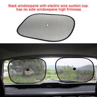 1Pair Universal Sun Shade Side Window Baby UV Protection Mesh Blinds Summer Pet Heat Insulation Foldable Car Curtain Stopper