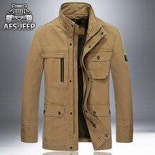 Mens Casaco de boa qualidade Jackes Primavera Outono jaquetas de algodão dos homens do exército militar soldado de Lavar Roupa roupas jaqueta de algodão dos homens