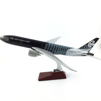 45 47CM AIR NEW ZEALAND 777 BLACK METAL Alloy Aircraft Model Collection Model Plane Toys Gifts Free express EMS/DHL/Delivery