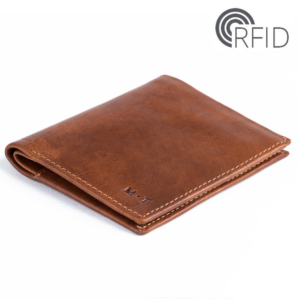 2017 Fashion New Leather Men Bifold RFID Purse Black Color Bellroy Ultra Slim wallet with Coin