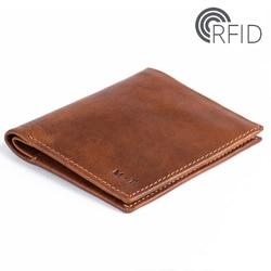 2020 Модный Новый кожаный мужской двойной RFID кошелек черного цвета Bellroy ультра тонкий кошелек с отделением для монет невидимая сумка для sd-кар...
