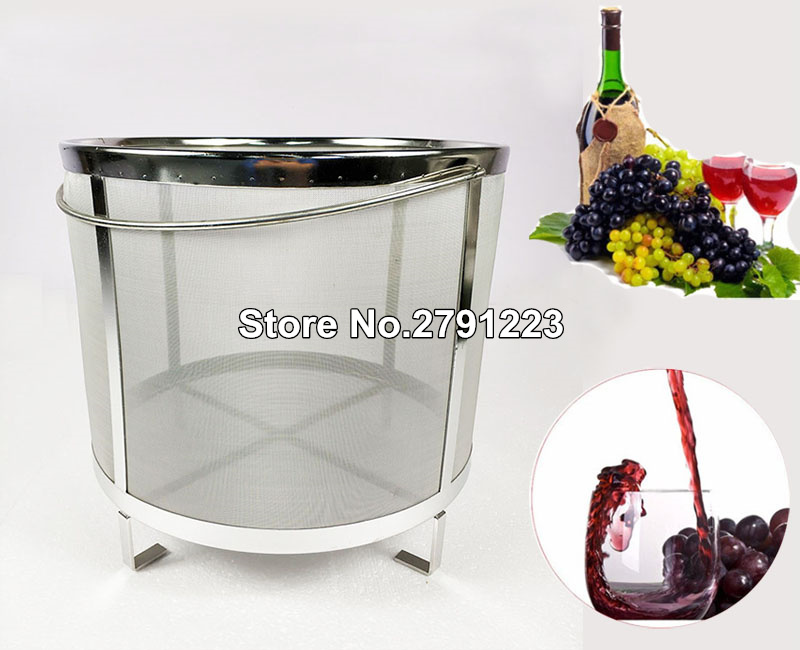 High quality 30 31cm Beer Wine House Home Brew Filter Basket Stainless Steel Strainer Hip Spider