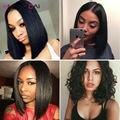 8А Бразильский прямые человеческие волосы U часть парики для чернокожих Женщин Glueless кружева Фронтальная парики человеческих волос полный Шнурок Человеческих Волос Парики