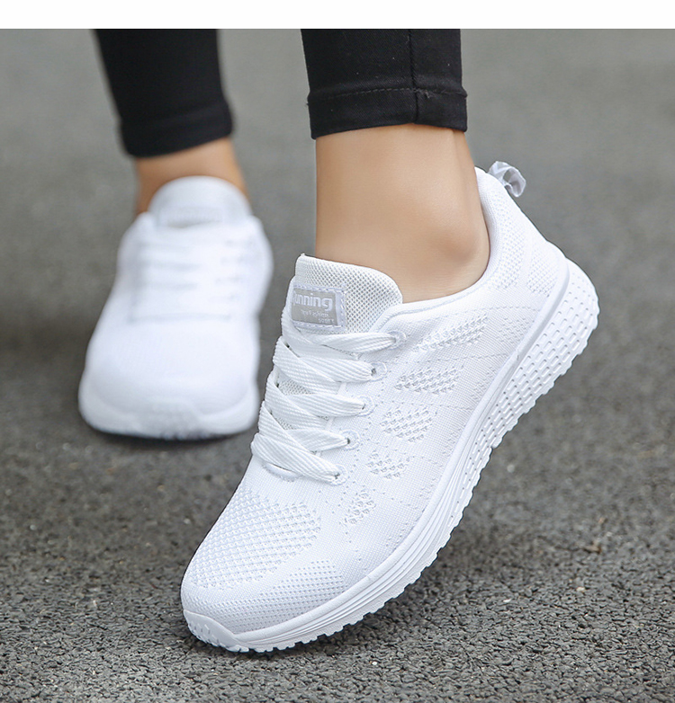 Women Casual Shoes Fashion Breathable Walking Mesh Flat Shoes Woman White Sneakers Women 2020 Tenis Feminino Female Shoes