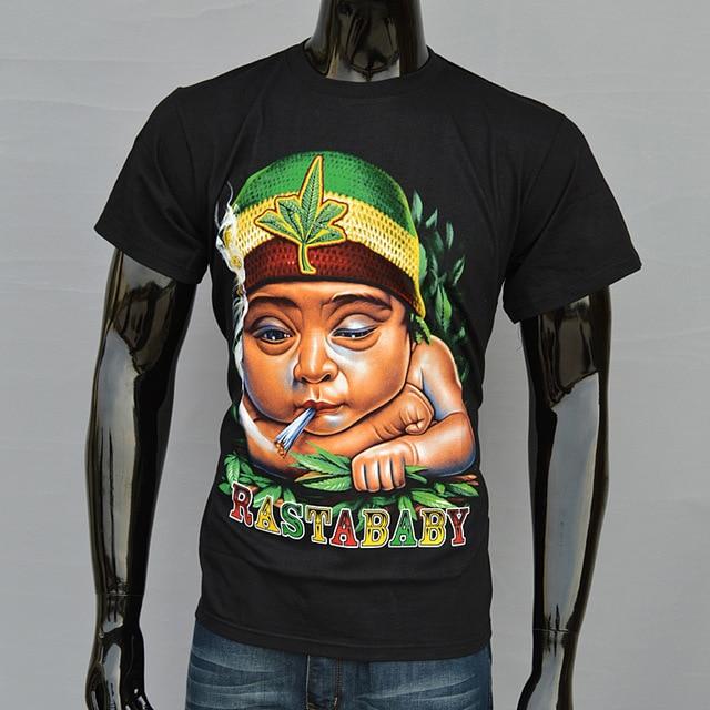 becdae103af 2015 New Arrival Man T shirt Men Tshirt 3D Rasta baby Printed Tops Short  Sleeve Men Summer cotton tops S M XXL Free Shipping