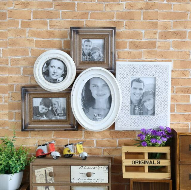Shabby Cottage Chic Wooden Collage Frame Photo Wall Multi Opening ...