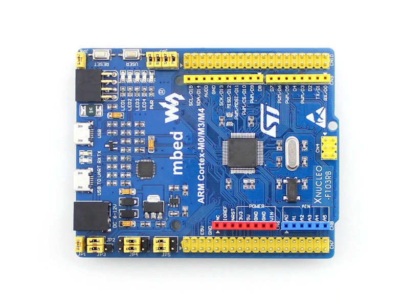 Modules XNUCLEO-F103RB Pack A # STM32F103RBT6 STM32 Board + Shield + 14 Sensors Compatible with NUCLEO-F103RB Free Shipping modules rs485 can shield designed for nucleo xnucleo compatible with aduno boards like uno leonardo nucleo xnucleo