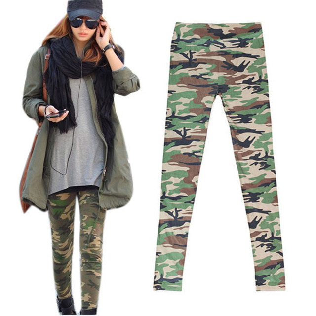 2700cf97527 Women Camouflage Army Print Stretch Cool Sexy Pants Skinny Leggings Trousers