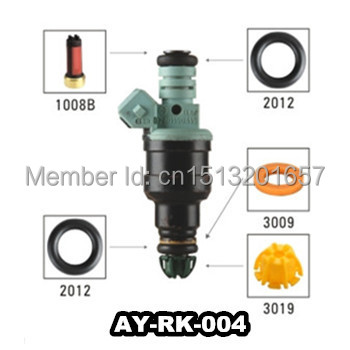 100unit/bag Fuel injector repair kit including fuel injector filter o-ring plastic washer pintle cap for bosch 0280150415 200sets high quality universal type fuel injector filter repair service kits fuel injector basket filter seal printle cap spacer