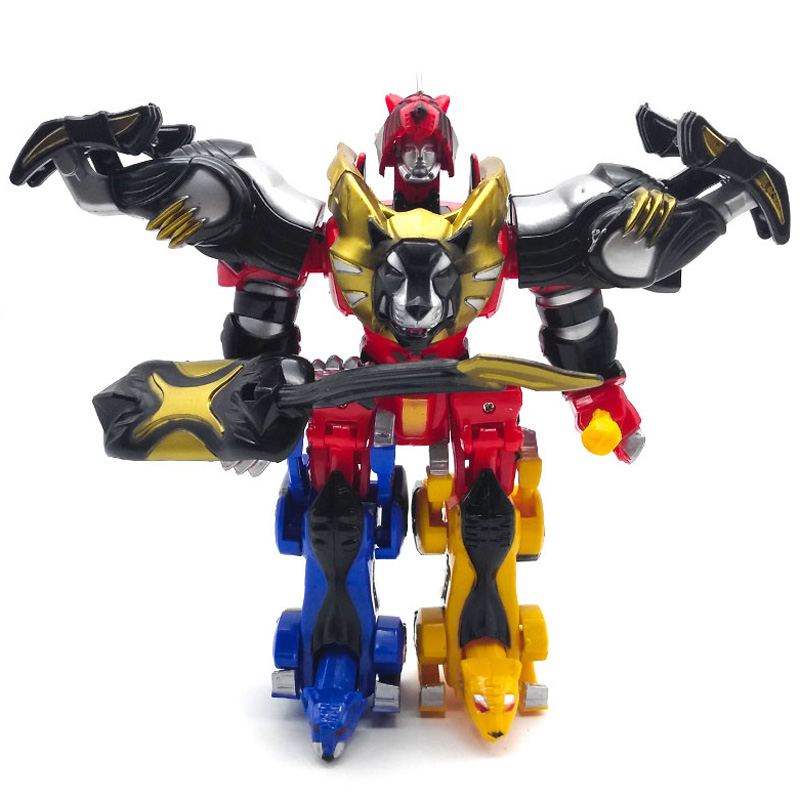 Children <font><b>Toys</b></font> Dinosaur Dinozord <font><b>4</b></font> in 1 <font><b>Transformation</b></font> Boy <font><b>Toys</b></font> Assemble Ranger Megazord Christmas Gifts Figure Action image