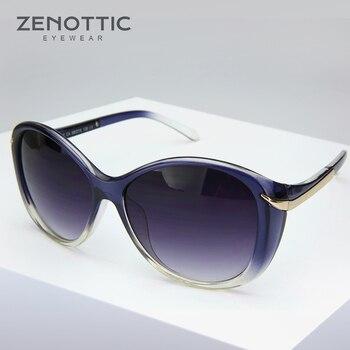 c5c207927f ZENOTTIC mujeres moda caliente aviación Ray gafas de sol para conducir Oval  grande negro gafas de sol de gran tamaño mariposa hembra