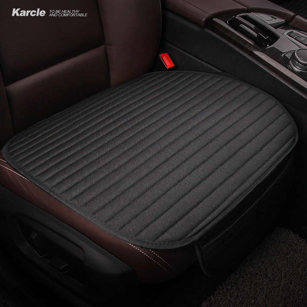 Karcle 1PCS Car Seat Covers Linen Breathable Seat Cushion 4 Seasons Healthy Pad Auto Accessories Winter Car-styling for Toyota fashionable pu leather solid color octagonal newsboy hat for women