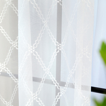 Jo's warm Geometry Cube Voile Curtains Modern Style White Tulle Curtains Screens Rideaux Pour Le Salon Cortinas De Quarto