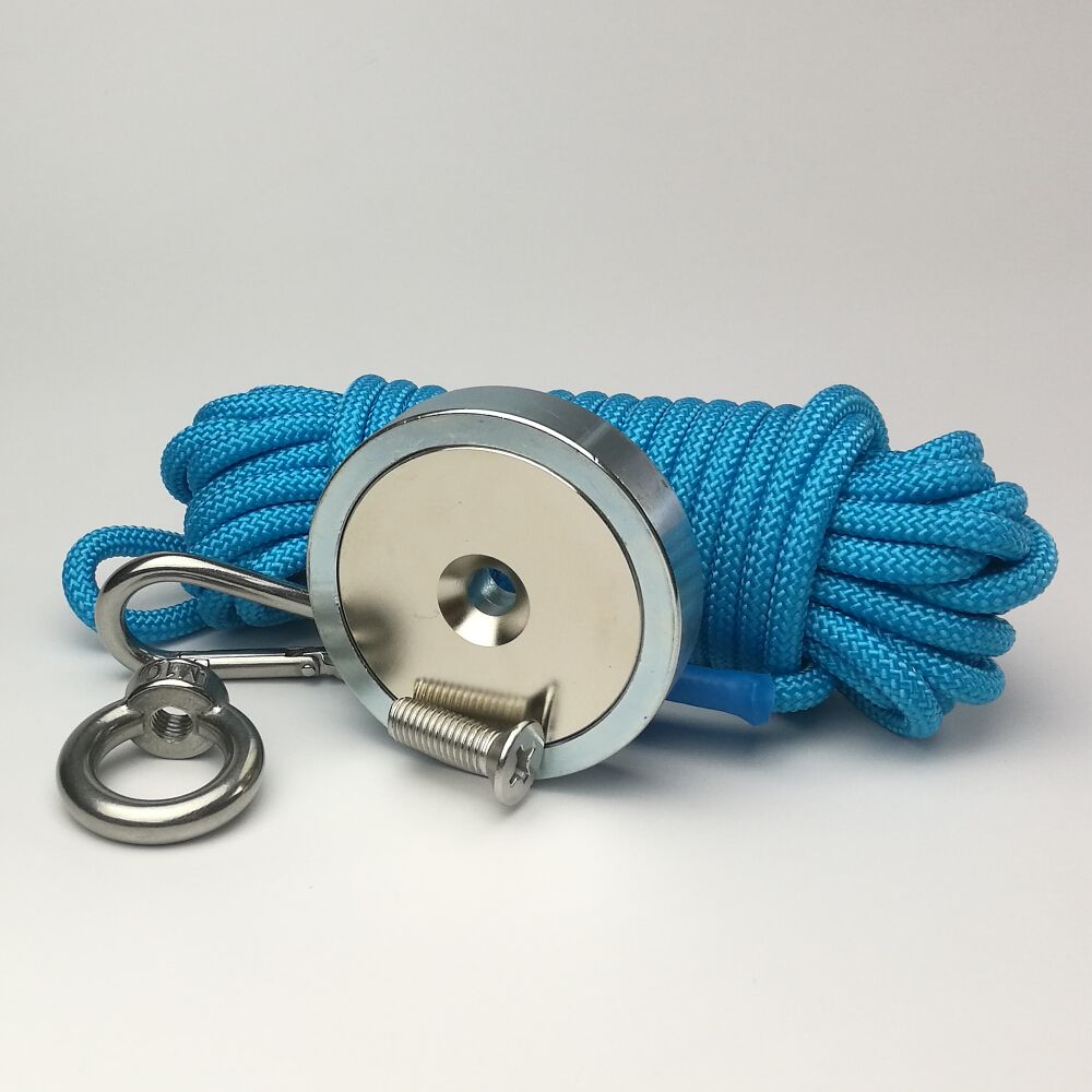 1PC 300KG Pull-force Imanes Neodymium Strong Magnet with Blue Rope Super Powerful Salvage Recovery Magnet Magnetic Material Base1PC 300KG Pull-force Imanes Neodymium Strong Magnet with Blue Rope Super Powerful Salvage Recovery Magnet Magnetic Material Base