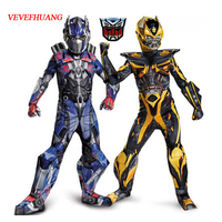 VEVEFHUANG Movie Muscle Optimus Prime Costumes Boys Bumblebee Superhero Body Suits For Carnival Halloween Costumes Party