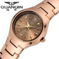GUANQIN Fashion Women Watch Causal Relogio Feminino Gold Silver Quartz Watches Waterproof Tungsten Steel Watch Women