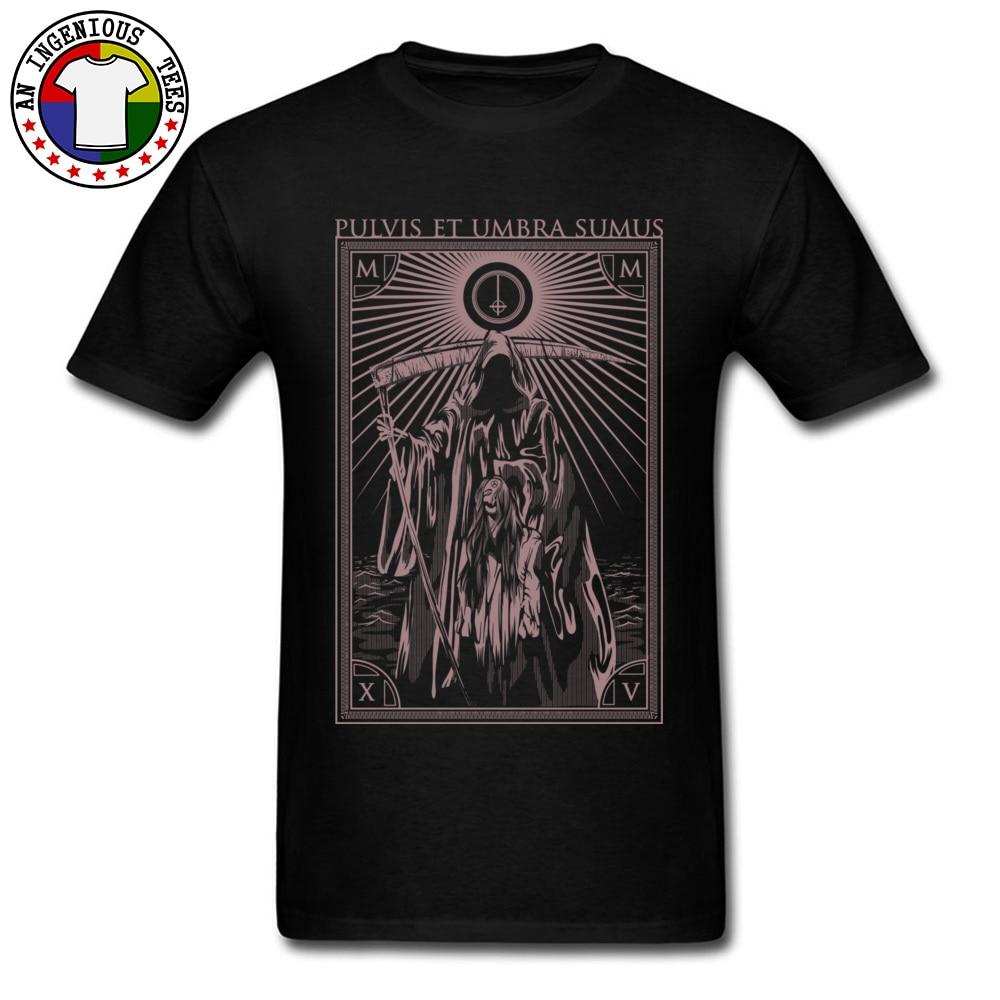 T-Shirt en pur coton pour jeune homme, ample Et intéressant, avec imprimé Hipster, jeu amusant, Umbra, Sumus, Dearth, Fitness